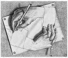 Escher, Drawing Hands, 1948